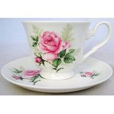 Chateau Chic: Majestic Rose Fine Bone China Breakfast Cup and Saucer. £27