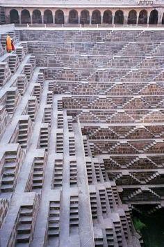 India Architecture, Ancient Architecture, Amazing Architecture, Architecture Details, Landscape Architecture, Luigi Snozzi, Stairway To Heaven, Incredible India, Stairways