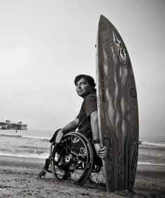 Christiaan Bailey. Paraplegic, pro-surfer and spokesperson for Life Rolls On.  >>> See it. Believe it. Do it. Watch thousands of SCI videos at SPINALpedia.com