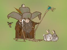 Radagast the brown wizard (the hobbit) Radagast The Brown, Marvel Comics, O Hobbit, Hobbit Art, Into The Fire, Nerd Love, Jrr Tolkien, Gandalf, Illustrations