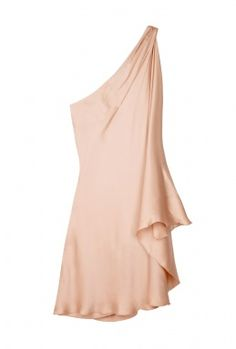 one shoulder pale pink. This is the type of dress I would like to own when I lose the rest of my weight and get a spray tan! How great this would look with some nude heels! LOVE!