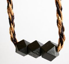 Faceted Braided Necklace