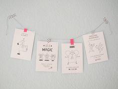 Weiteres - Grußkarte LIFE IS MAGIC - ein Designerstück von finelittlepaper bei DaWanda