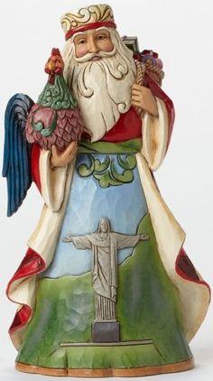Jim Shore Heartwood Creek BRAZILIAN SANTA CLAUS XMAS Figurine Christmas Navidad