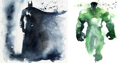 I Watercolor Superheroes With Big Splashes | Bored Panda