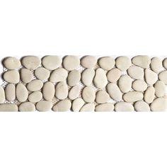 Frise galet rond ivoire 10 x 30 - CASTORAMA