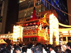 """""""Historically, the Gion festival is an interesting coming together of essentially autonomous neighborhood associations, called chōnai. The chōnai are essential to everything about the festival; traditionally each chōnai funded its own hoko, and the rise and fall of the festival yamaboko mirrored the fluctuations in fortunes of chōnai members"""" - http://gionfestival.org/community/"""