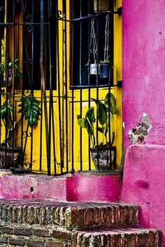 Colorful architecture, old and new.