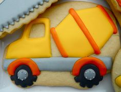 construction, tools, worker, dump truck, caution cookies, fathers day
