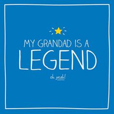 Grandad Birthday Card - Happy Jackson - Grandad is a Legend This bright and colourful Grandad Birthday Card 'Grandad is a Legend' is from the big and bold brand Happy Jackson.