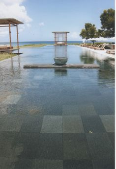 These are the Pool Tiles we want for our pool.  Bali Lava Stone