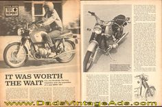 """1970 BMW 750 motorcycle print road test article – """"It Was Worth The Wait"""" – Can Joe Roadrider find true happiness?"""
