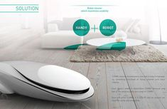 Combi Robotic Vacuum Cleaner concept: The Combi is a robotic vacuum cleaner that cleans your space efficiently. It features an integrated dust buster to get to those hard-to-reach nooks.