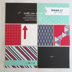 Scrapbook pages using Maritime paper & the Geometrical stamp set… #stampyourartout #stampinup - Stampin' Up!® - Stamp Your Art Out! www.stampyourartout.com