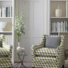 Edwardian-style with geometric upholstery | Traditional living room ideas | housetohome.co.uk