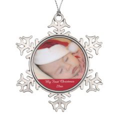 Customize the personalized ornament with your own design.