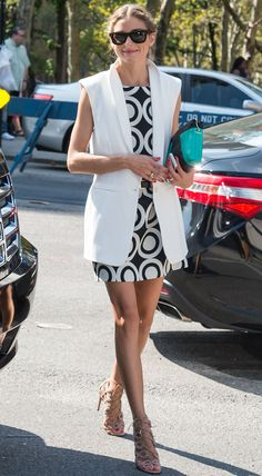 How Olivia Palermo Stays Looking Chic in 100-Degree Weather from #InStyle