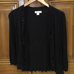 Women's black short dress cardigan Women's black cardigan goes great with tees or a dress Christopher & Banks Sweaters Cardigans