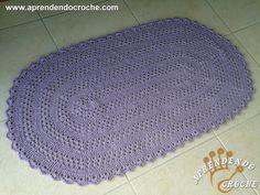 Tapete de Crochê com Barbante Oval - Receita de Croche com o Passo a Passo no Link http://www.aprendendocroche.com/receitas-de-croche/video-aula.asp?resid=1401&tree=11