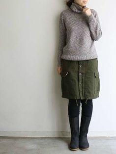 Love this skirt and sweater combo