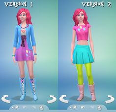 los sims 4 creando personajes rarity my little pony inspiración