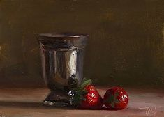 Julian Merrow-Smith: Today's painting Goblet with strawberries