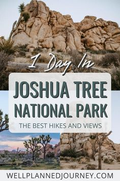 Discover the ULTIMATE 1-day itinerary for Joshua Tree National Park. This detailed itinerary has all of Joshua Tree's best hikes, views, and photo ops. Joshua Tree National Park | Joshua Tree National Park Photography | Joshua Tree National Park Things to Do | Joshua Tree National Park Camping | Joshua Tree National Park Hiking | Things to Do in Joshua Tree California | Joshua Tree National Park Itinerary | California National Parks Road Trip National Park Pass, Capitol Reef National Park, Joshua Tree National Park, Grand Canyon National Park, Yellowstone National Park, California National Parks, National Parks Usa, Hiking Tips, Best Hikes