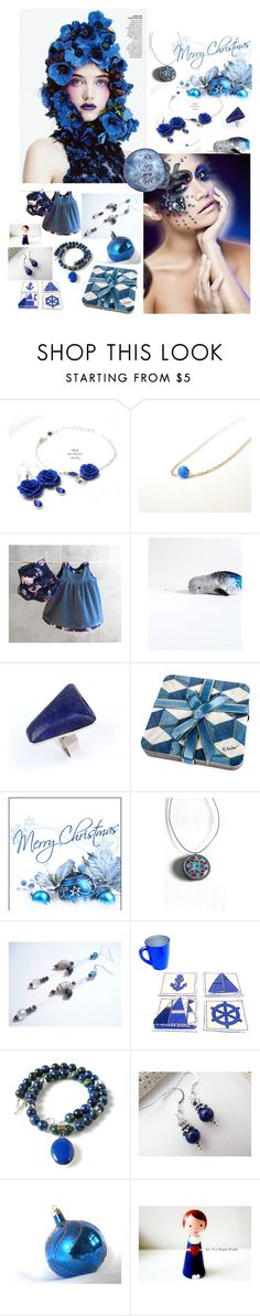 """""""Something Blue"""" by treasury ❤ liked on Polyvore featuring Coral Blue and Lazuli"""