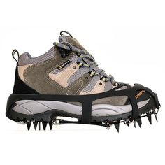 Kottle Universal Crampons 18 Steel Teeth Ice Grips Anti-slip Snow and Ice Traction Cleats Shoe Chains Safe Protect Shoes ** This is an Amazon Affiliate link. To view further for this item, visit the image link.