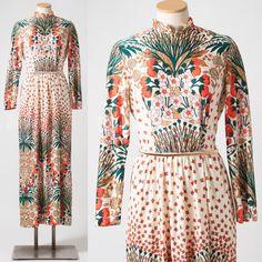 60's maxi dress... Etsy listing at https://www.etsy.com/listing/257336122/vintage-maxi-dress-60s-maxi-dress-mad