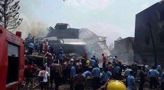 Foto Mengerikan Fortuner Dihantam Pesawat TNI di Medan | Wow Kece Badai !