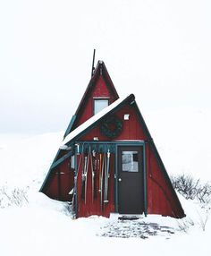 Think we could move in? vibes by 💫 Alaska Cabin, Take Shelter, Winter Wonderland, Outdoor Gear, Tent, Adventure, House Styles, Instagram Posts, Travel