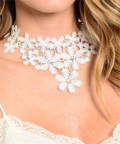 * Floral Victorian Lace Choker Necklace