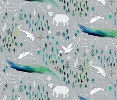 Arctic Song  fabric by nouveau_bohemian on Spoonflower - custom fabric