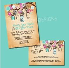 Hey, I found this really awesome Etsy listing at http://www.etsy.com/listing/153040029/vintage-jar-wedding-invitation-rsvp-card