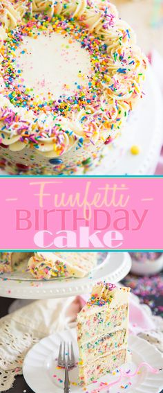 Can you think of a cake that says PARTY better than a funfetti birthday cake? Plus, it's guaranteed to please the pickiest of eaters. Funfetti Kuchen, Funfetti Cake, Round Cake Pans, Round Cakes, No Bake Desserts, Just Desserts, Dessert Recipes, Confetti Cake Recipes, Cake Board