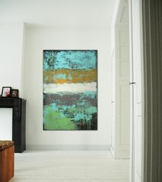 """Vertical Playfields - Acrylic painting - 31,5"""" x 47,2"""" - Free Worldwide Shipping- Ronald Hunter"""