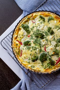 Vegetable and Goat Cheese Quiche - The Gourmet Gourmand Flan, Goat Cheese Quiche, Savory Tart, Cooking Chef, Quiche Recipes, Food Inspiration, Food Processor Recipes, Vegetarian Recipes, Yummy Food