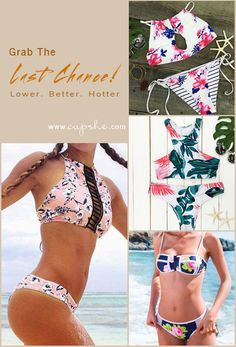 Grab The Last Chance!  Better&Hotter with lower price. Expedited shipping-only 7 days for delivery. Free for orders over $80 (else US $8-13). High quality & Better service! Get ready for incoming warmer days~ Pick best swimwear for beach party at Cupshe.com