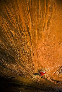 rock climbing near mob utah by whitphotography, via Flickr