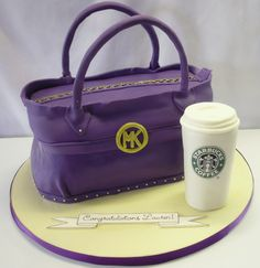 Latest Pocketbook Cakes | 3d-cakes_mk-purse-michael-kors-cake-starbucks-coffee-cup-cake