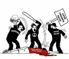 Liberal hypocrisy is off the charts and their anarchy is proof enough! If you voted liberal, you are either part of the problem or need to reevaluate your position NOW! Liberal Hypocrisy, Liberal Logic, Liberal Left, Political Memes, Political Cartoons, Funny Politics, Caricatures, Trump Love, Socialism