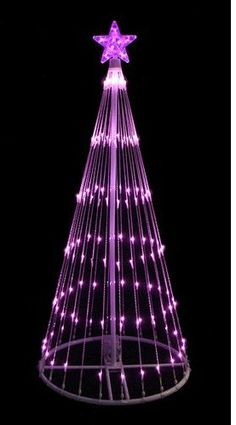 Felices Pascuas Collection Green LED Light Show Cone Christmas Tree Lighted Yard Art Decoration Christmas Light Show, Cone Christmas Trees, Purple Christmas, Christmas Colors, Christmas Lights, Christmas Ideas, Xmas Tree, Christmas Art, Beautiful Christmas