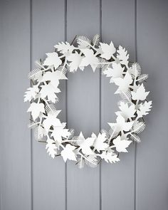 cardboard leaf wreath by the original pop up shop | notonthehighstreet.com