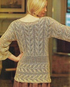 Truly lovely lace! ~~ Ravelry: Wakame Lace Tunic pattern by Angela Hahn ($)