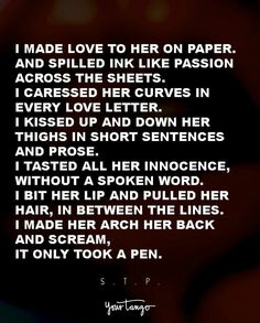 Letter poem erotic romantic love best