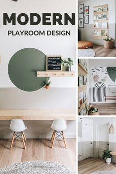 If you're looking to design a modern playroom for your home, you are going to want to read this blog post. You are going to learn how using a paint color scheme with decor achieved this look. #AcePartner #mylocalAce #BenjaminMoore #AceHardware Playroom Color Scheme, Playroom Paint Colors, Kids Room Paint, Playroom Design, Room Color Schemes, Playroom Decor, Playroom Ideas, Playroom Storage, Painting Kids Rooms