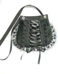 Black velvet corset bag by Estylissimo.deviantart.com on @deviantART