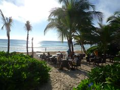 Breakfast in the sand at Ziggys Beachclub.