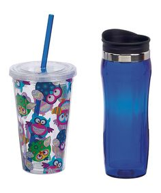 Take a look at this Zigzag Owl Hot & Cold Tumbler Set by Boston Warehouse on #zulily today! $10 !!